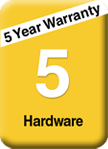 5 year hardware warranty