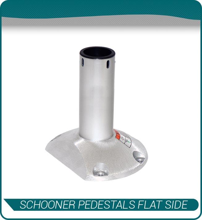 schooner pedestals flat side