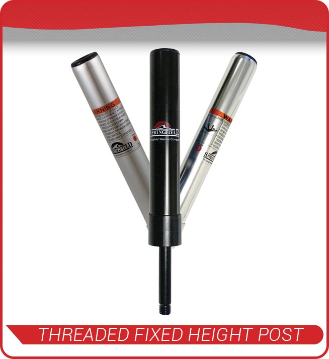 threaded fixed height posts